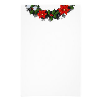 """Wreath """"Winter Roses"""" Flowers Floral Stationery"""