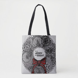 Wreath with Text Tote Bag