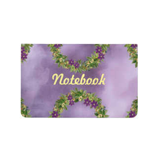 "Wreath ""Wow Purple"" Flowers Floral Pocket Journal"