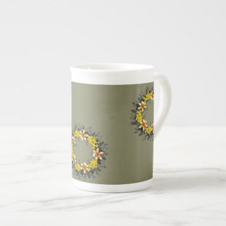 "Wreath ""Yellow Yellow"" Flowers Floral Mug"