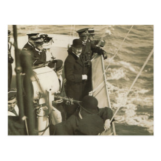 Wreaths thrown on the sea Remembrance Day 1 Postcard