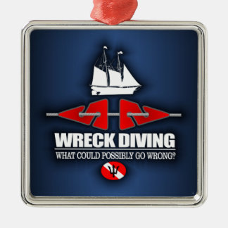 Wreck Diving (What Could Possibly Go Wrong?) Christmas Ornament