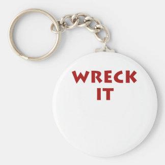 Wreck It Basic Round Button Key Ring