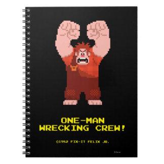 Wreck-It Ralph: One-Man Wrecking Crew! Spiral Notebook