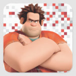 Wreck-It Ralph Standing with Arms Crossed Square Stickers