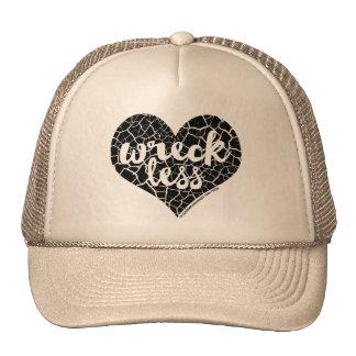 """""""Wreck Less Heart"""" BLACK Heart Trucker Hat"""