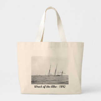 Wreck of the Alba, 1892 Jumbo Tote Bag