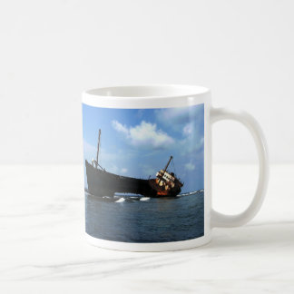 "Wreck of the ""Cavalier"" E Coco Banderos, Panama Basic White Mug"