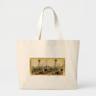 Wreck of the U.S.S. Maine Divers Coming Up Vintage Jumbo Tote Bag