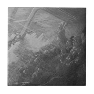 Wreck & Sinking of the Titanic 1912 Small Square Tile