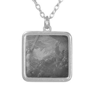 Wreck & Sinking of the Titanic 1912 Square Pendant Necklace