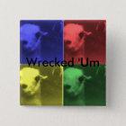 Wrecked 'Um 4 Colour Llama Square Button