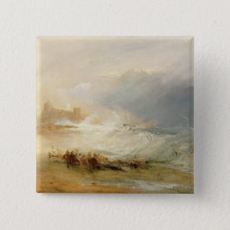 Wreckers - Coast of Northumberland, With a Steam B 15 Cm Square Badge