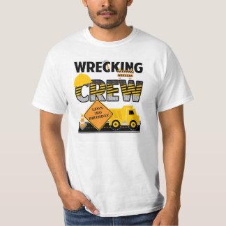 Wrecking Crew Shirt, Construction Work Zone, Name T-Shirt