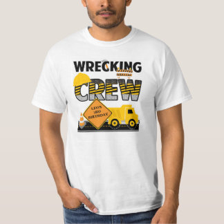 Wrecking Crew Shirt, Construction Work Zone, Name Tees
