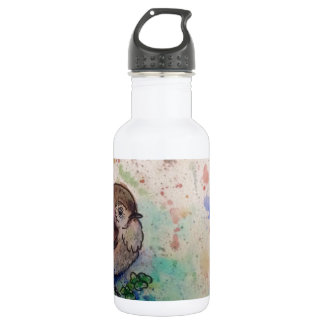 Wren amongst the clover 532 ml water bottle