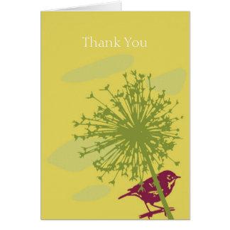 Wren and Allium Card