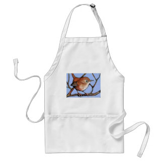 WREN, BIRD, in Oil Pastel Standard Apron