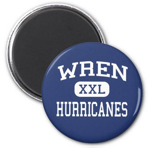 Wren Hurricanes Middle Piedmont Fridge Magnet