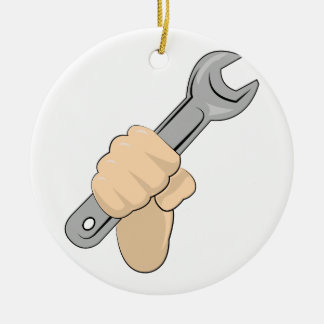 Wrench Christmas Ornament