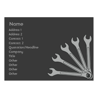 Wrench - Chubby Business Card Template