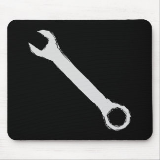 Wrench. Gray and Black. Spanner. Mouse Mat