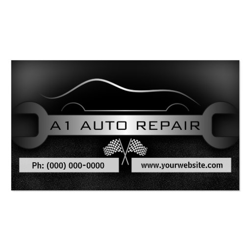 Wrench Mobile Mechanic Auto Repair Business Cards
