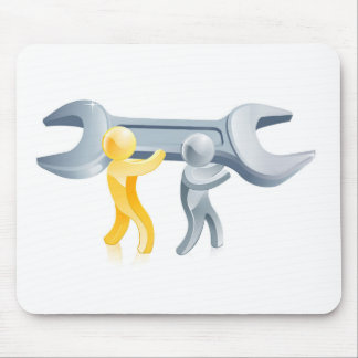 Wrench people mouse mats