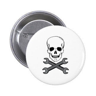 WRENCHES AND SKULL PIN