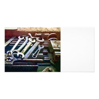 Wrenches in Machine Shop Photo Card Template