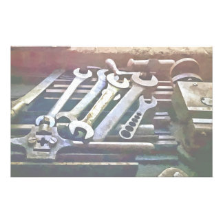 Wrenches in Machine Shop Stationery Design