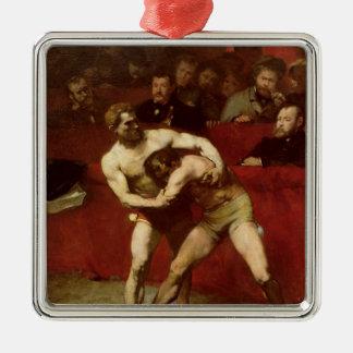 Wrestlers, 1875 christmas ornament