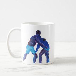 Wrestlers Blue Mug