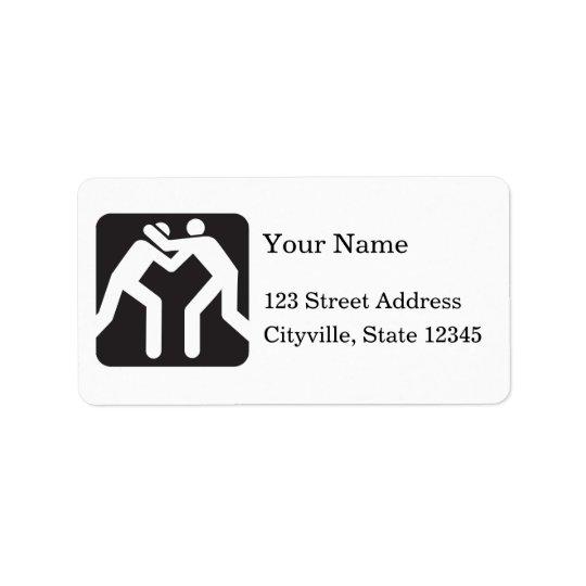 Wrestlers Icon Address Label