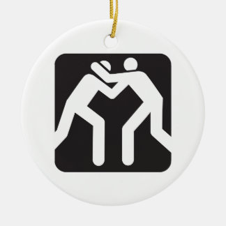 Wrestlers Icon Christmas Ornament