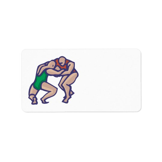Wrestling 5 address label