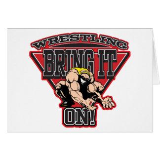 Wrestling Bring It On Greeting Card
