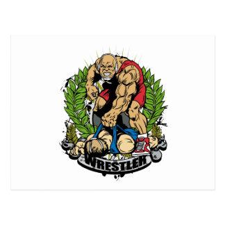 Wrestling Champ Postcard