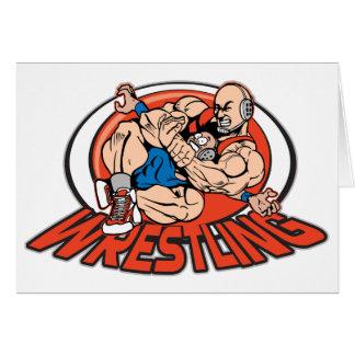 Wrestling Choke Hold Greeting Card