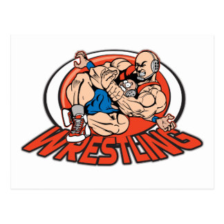 Wrestling Choke Hold Postcard