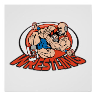 Wrestling Choke Hold Posters