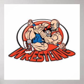 Wrestling Choke Hold Poster