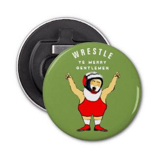 wrestling Christmas Bottle Opener