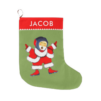 wrestling Christmas Large Christmas Stocking