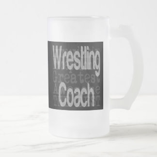 Wrestling Coach Extraordinaire Frosted Glass Mug