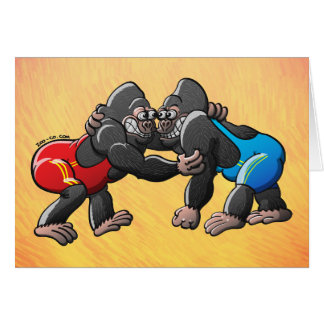 Wrestling Gorillas Card