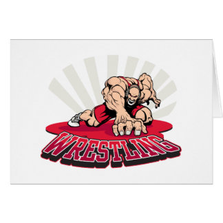 Wrestling! Greeting Card