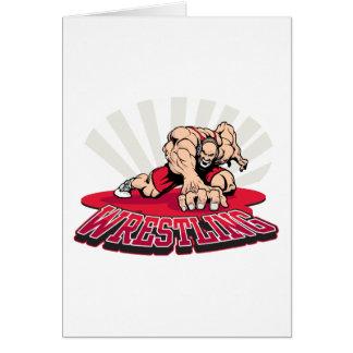 Wrestling! Greeting Card