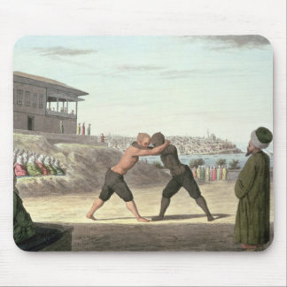 Wrestling Match, Constantinople (w/c on paper) Mouse Mat