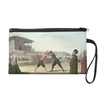 Wrestling Match, Constantinople (w/c on paper) Wristlets